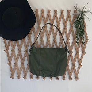 St. johns bay green leather hobo shoulder bag